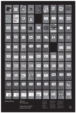 "Michael Bierut's commemorative poster of ""30 Years 90 Notebooks."" Credit/Michael Bierut"